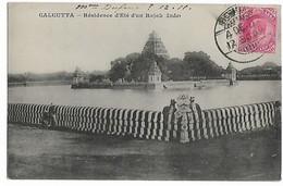 BOMBAY Inde CAD De 1911 Timbre One Anna  Pour PARIS  Cpa CALCUTTA  ...G - Non Classés