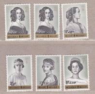 1962 Nr 1233-38* Postfris Met Scharnier.Koninginnen Belgie. - Belgien