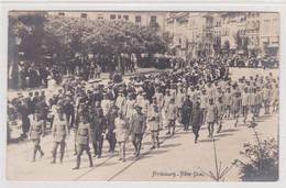 Fribourg, Défilé Des Internés à La Fête-Dieu 1917?. Carte-photo. - FR Fribourg