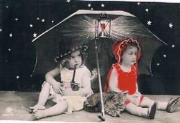 Chat Fillette  - Cat And Child - Meisjes Paraplu Poesje -katze, Kind- Gatto- - Cats