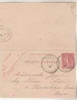 Entier 129CL1 Semeuse Lignée Date 609 Cachet Perlé ORMOY Haute Saône 1/7/1906 à Vioménil Par Lerrain Vosges - Biglietto Postale