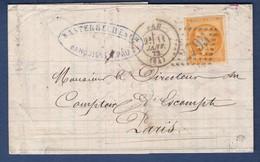 LETTRE CLASSIQUE CERES YT48 ORANGE PALE GC795 PAU SIGNEE ROUMET   C250E - Marcophilie (Lettres)