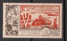 Comores - 1954 - Poste Aérienne PA N°Yv. 4 - Anniversaire De La Libération - Neuf * / MH VF - Comores (1950-1975)