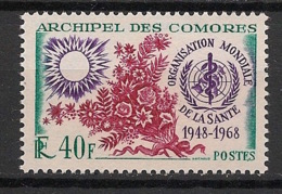 Comores - 1968 - N°Yv. 46 - OMS - Neuf * / MH VF - Neufs