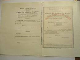 Banque Centrale De Namur - Certificat D'inscription D'action - Pas Courant - Banque & Assurance