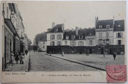 Crécy-en-Brie. La Place Du Marché - CPA 1909 - Autres Communes