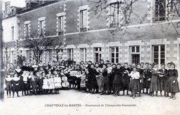 44  CHANTENAY LES NANTES PENSIONNAT DE L'IMMACULEE  CONCEPTION (CPA LEGRT JAUNIE) - Frankrijk