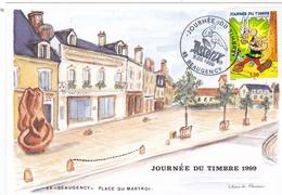 Cachet Commémoratif Journée Du Timbre 1999 Astérix Oblitération  1er Jour De Beaugency - Commemorative Postmarks