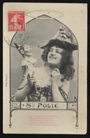 CPA  --  STE FOLIE ( Sainte ) FEMME AVEC UNE MAROTTE ET POEME HUMORISTIQUE  CIRCULEE EN 1909  ** RARE **  214.F** - Humour