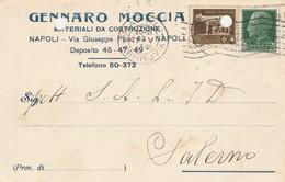 Napoli.  1933. Cartolina Postale PUBBLICITARIA  ...MATERIALI DA COSTRUZIONE ... - 1900-44 Vittorio Emanuele III