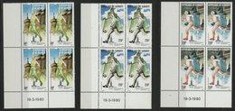 DJIBOUTI POSTE AERIENNE COTE 36 € SERIE N° 135 à 137 **. BLOCS DE QUATRE,  J. O. ETE DE MOSCOU. TB - Sommer 1980: Moskau