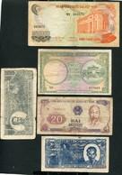 LOT DE 5 BILLETS DU VIETNAM - Kilowaar - Bankbiljetten