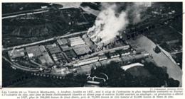 1929 : Photo, Belgique, Les Usines De La Vieille Montagne à Angleur, Industrie Du Zinc, Liège - Old Paper