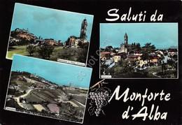 Cartolina Monforte D' Alba Vedute - Cuneo