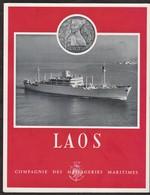 """Compagnie Des Messageries Maritimes - """" Laos """" - Folletos Turísticos"""