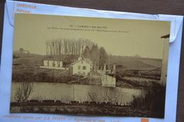 CAMBO-les-BAINS-la Nive,le Pont Suspendu Pres De L'etablissement Thermal-offerte Par Chocolat Vinay-papier Glace - Cambo-les-Bains