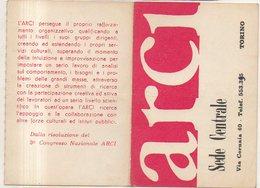 ARCI - TORINO - TESSERA 1965 - Documenti Storici