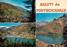 Cartolina Pontechianale Vedute 1975 - Cuneo