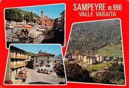 Cartolina Sanpeyre Valle Varaita Vedute - Cuneo