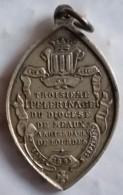 Médaille Je Suis L'immaculée Conception Prière Pénitence Prière 1858 Au Verso 3ème Pélerinage Du Diocèse De MEAUX - Religion & Esotérisme