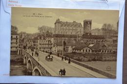 PAU-le Pont Du Gave Et Le Chateau-offerte Par Chocolat Vinay-papier Glace - Pau