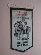Gemeentelijk KARNAVALKOMITE 980 - 1980 >>> WETTEREN 1000 Jaar ( +/- 21,5 X 11 Cm./ Zie Foto ) ! - Organisaties
