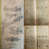 J) 1924 GERMANY, CATALOGUE, SENFS ILLUSTRATED STAMPS, VERSION IN GERMAN, 567 PAGES, BLACK AND WHITE, XF - Books, Magazines, Comics