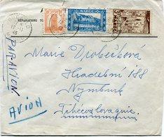 MAROC LETTRE PAR AVION DEPART FOUCAULD 12-11-46 MAROC POUR LA TCHECOSLOVAQUIE - Marocco (1891-1956)