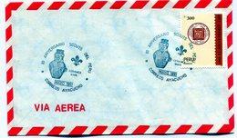 PERU 1991 SPC 80 ANIVERSARIO SCOUTS DEL PERU XL ANIVERSARIO VIA AEREA CORREOS AYACUCHO|  - NTVG. - Perú