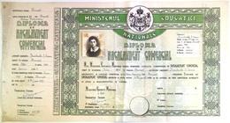 "Romania, 1947, Vintage Bachelor's Diploma - ""Domnita Balasa"" Bucuresti - Diploma & School Reports"