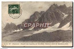 CPA Chamonix Massifs Des Aiguilles De I M Charmoz Blaitiere - Chamonix-Mont-Blanc