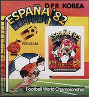 Nord Korea, 1981, World Cup 1982,  Block Imperforated  # 93B - 1982 – Spain