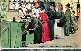 CPA  - GB  - The Fried Fish Shop  - Illust : Ludovici  - écrite 1904 - Humour