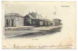 36-ISSOUDUN-La Gare...1903  Animé - Issoudun