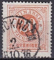 SE024 – SUEDE – SWEDEN – 1872 – NUMERAL VALUES – Y&T # 21B USEDE - Used Stamps