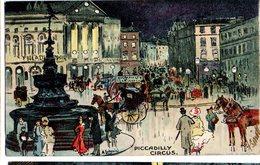 CPA  - GB  - Piccadilly Circus - Illust : Ludovici  - écrite 1904 - Humour