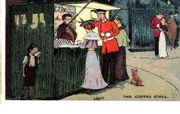 CPA  - GB  - The Coffee Stall - Illust : Ludovici  - écrite 1904 - Humour