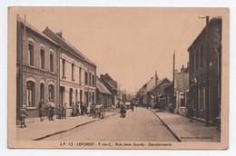 CPA GENDARMERIE, Rue JEAN JAURES, LEFOREST, Animée, Voyagée, Voir Photos - Autres Communes