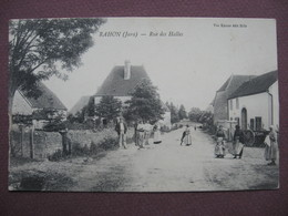 CPA 39 RAHON Rue Des Halles RARE & ANIMEE 1907 Canton TAVAUX - France