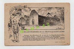 CPA POUR LA RECONSTRUCTION DE L'EGLISE - 72 - LA CHAPELLE SAINT AUBIN - L'EGLISE INCENDIEE - Andere Gemeenten