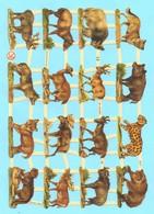 Feuille Complète De Chromos Découpis. Animaux (1). Volle Seite Von Glanzbild Scrap. Tiere (1). - Dieren