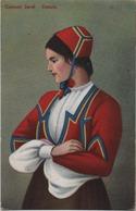 Costumi Sardi: Desulo (Nuoro). Formato Piccolo Viaggiata 1938 - Costumi