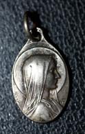 """Pendentif Médaille Religieuse Argent 800 XIXe """"Notre-Dame De Lourdes"""" Religious Medal - Religion & Esotérisme"""