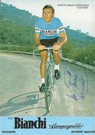 CARTE CYCLISME MARTIN EMILIO RODRIGUEZ SIGNEE TEAM BIANCHI 1975 - Cycling