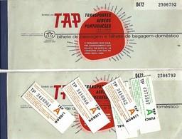 2 Billet D'avion TAP 1974 Tallon Bagage Voyage Lisboa-Funchal-Lisboa Pub SACOR Pétrole - Europe