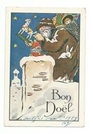 CPA Père Noël Santa Claus  Cheminée Jouets - Santa Claus