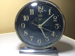 REVEIL DIAMANT VINTAGE SHANGHAI- CADRAN BLEU - REVEIL QUI FONCTIONNE - Alarm Clocks