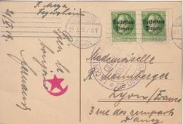 Ludwigshafen A. Rh.  Jubiläumsdenkmal  Timbres Bayern  -Tampon Censure Postale - Ludwigshafen