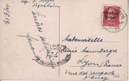 """Neustadt An Der Haardt  Partie B.d. Königsmühle   Timbres Bayern  -Tampon """" CONTRÔLE De L'AUTORITE MILITAIRE """" - Ludwigshafen"""