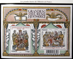 """2015 - BF N° F4943 """" LES GRANDES HEURES DE L'HISTOIRE DE FRANCE """" NEUFS / TBE / NON PLIÉ - Sheetlets"""